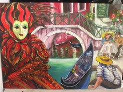 Picturi maritime navale Carnaval la venetia