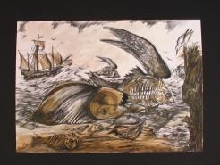 Picturi maritime navale Insula pestilor zburatori