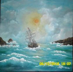 Picturi maritime navale Corabie in deriva!
