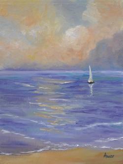 Picturi maritime navale Peisaj marin -