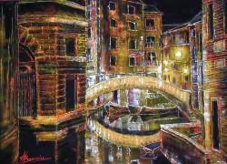 Picturi maritime navale Nocturna