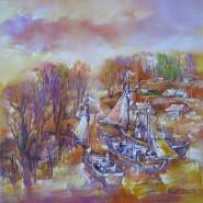 Picturi maritime navale Corabii cu pinze in delta-uleipinza