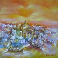 Picturi maritime navale Corabii pe mare in grecia ulei pe pinza