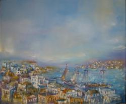 Picturi maritime navale Marina La Salonic in Grecia