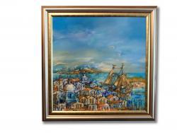Picturi maritime navale Peisaj Portul Salonic