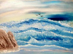 Picturi maritime navale Marea involburata