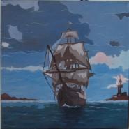 Picturi maritime navale Corabie