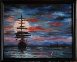 Picturi maritime navale Navala 2