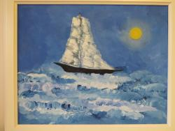 Picturi maritime navale Printre Valurile Marii