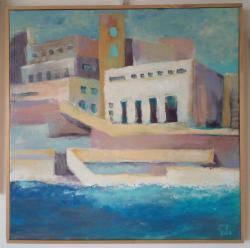 Picturi maritime navale Poezie la mal