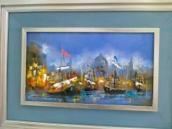 Picturi maritime navale Venetiana nocturna