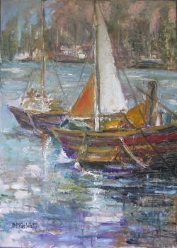 Picturi maritime navale MALTESE BOATS