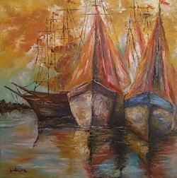 Picturi maritime navale barci cu panze