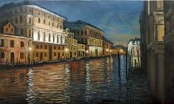 Picturi maritime navale Venetia noaptea