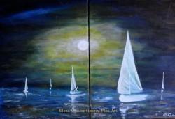 Picturi maritime navale Navigand