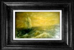 Picturi maritime navale Pctura-Apus marin