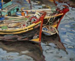 Picturi maritime navale Barci colorate