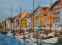 Picturi maritime navale Canal Nyhavn