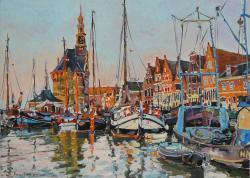 Picturi maritime navale Peisaj olandez