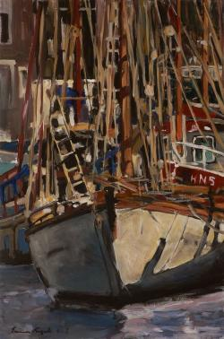 Picturi maritime navale Port inghetat