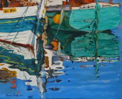 Picturi maritime navale Reflexii pe apa
