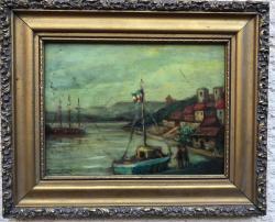 Picturi maritime navale portul