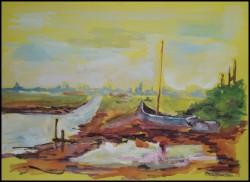 Picturi acuarela Vapoare esuate