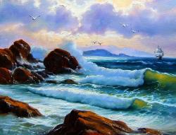 Picturi maritime navale la diguri