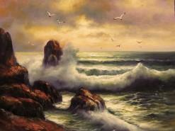 Picturi maritime navale Valuri si stanci 2