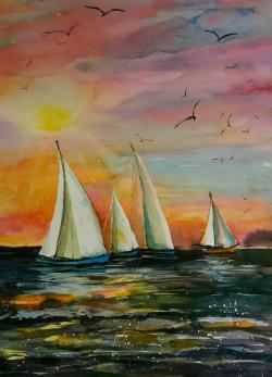 Picturi maritime navale Seascape 11