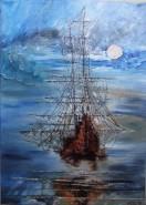 Picturi maritime navale Olandezul zburator