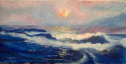 Picturi maritime navale Inserare pe mare