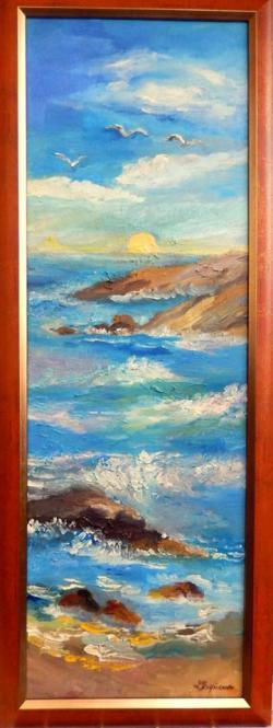 Picturi maritime navale Plaja insorita