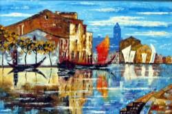 Picturi maritime navale Venetia albastra
