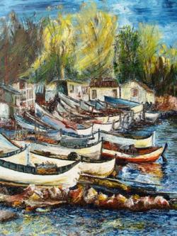 Picturi maritime navale Balcic 4