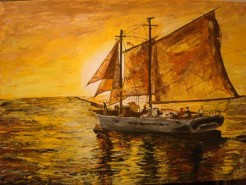 Picturi maritime navale Corabie 1