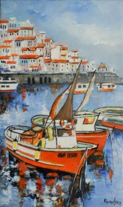 Picturi maritime navale Barci cu panze 1