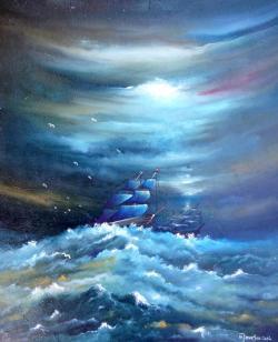 Picturi maritime navale Corabii 1