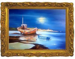 Picturi maritime navale Epava la mal