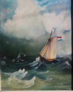 Picturi maritime navale Barca pe mare