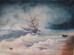 Picturi maritime navale Storm