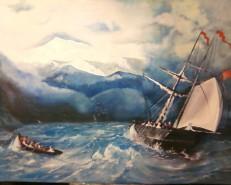 Picturi maritime navale Vedere pe mare