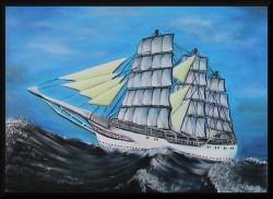 Picturi maritime navale Pe mare