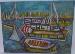 Picturi maritime navale plecare in larg
