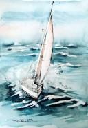 Picturi acuarela Marina