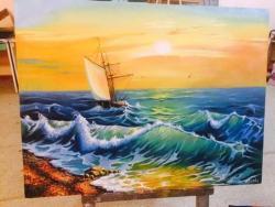 Picturi maritime navale valuri