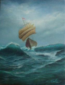 Picturi maritime navale Corabia RARUCA