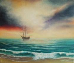 Picturi maritime navale valuri 26^