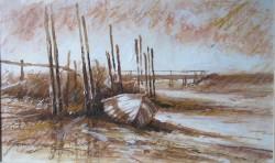 Picturi maritime navale Barci la chituc