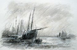 Picturi maritime navale Portul  vechi